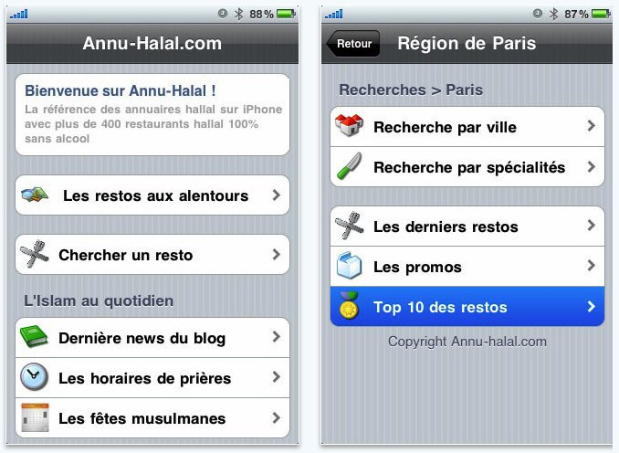 Application pour rencontre