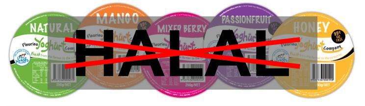 Plus de certifcation halal pour les yaourts australiens