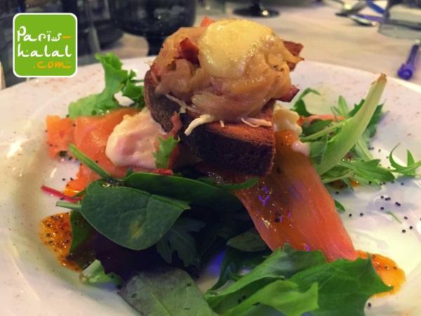 Tartine saumon Le Médaillon