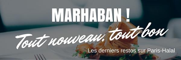 Les nouveaux restaurants validés sur Paris-Halal