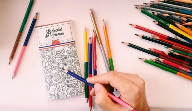 tablettes de chocolat à colorier