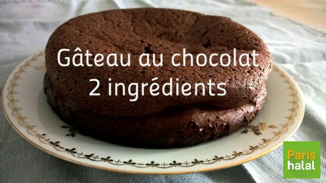recette gâteau chocolat 2 ingrédients