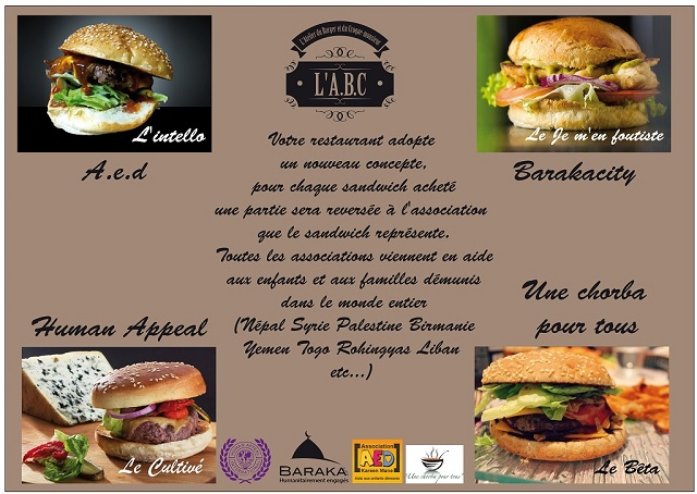 Opération associations abc burger